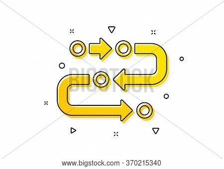 Development Process Sign. Methodology Icon. Strategy Symbol. Yellow Circles Pattern. Classic Methodo