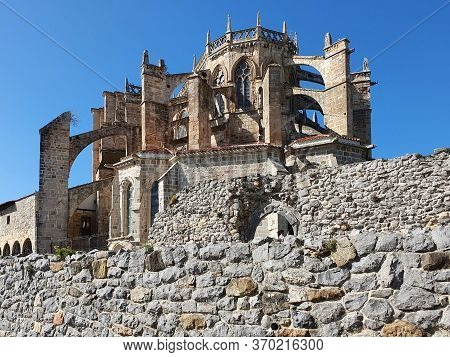 11 October 2019 Castro Urdiales Cantabria Spain Gothic Church Of St Mary Of The Assumption In The Fi