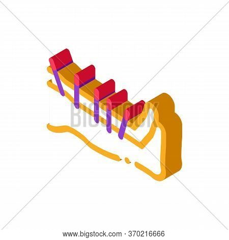 Acupuncture Feet Icon Vector. Isometric Acupuncture Feet Sign. Color Isolated Symbol Illustration