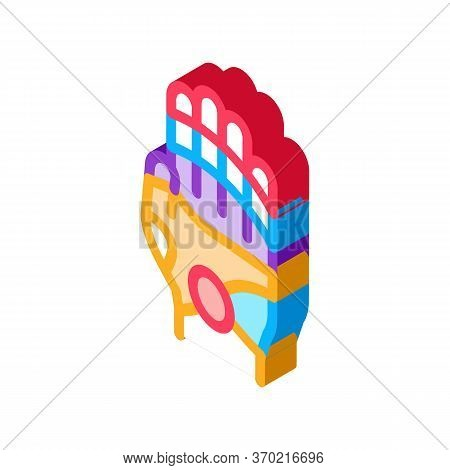 Areas Of Action On Arm Icon Vector. Isometric Areas Of Action On Arm Sign. Color Isolated Symbol Ill