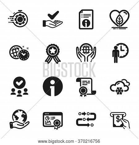 Set Of Business Icons, Such As Methodology, Seo Certificate. Certificate, Approved Group, Save Plane
