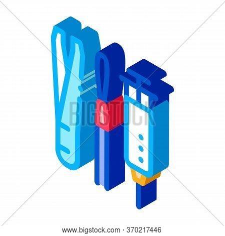 Dermatological Treatment Instrument Icon Vector. Isometric Dermatological Treatment Instrument Sign.