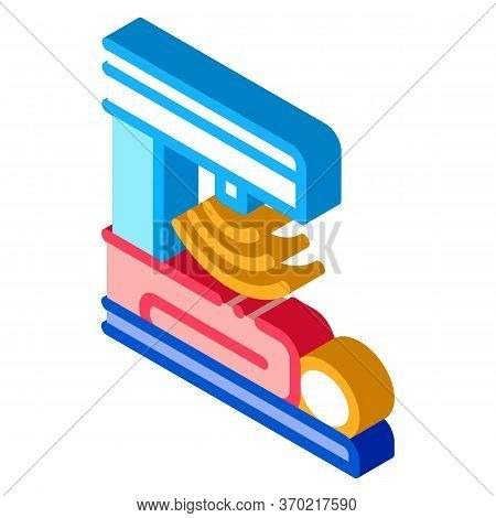 Human Stomach Scanner Icon Vector. Isometric Human Stomach Scanner Sign. Color Isolated Symbol Illus