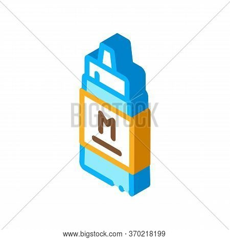 Squeezes Bottle Of Mayonnaise Sauce Icon Vector. Isometric Squeezes Bottle Of Mayonnaise Sauce Sign.