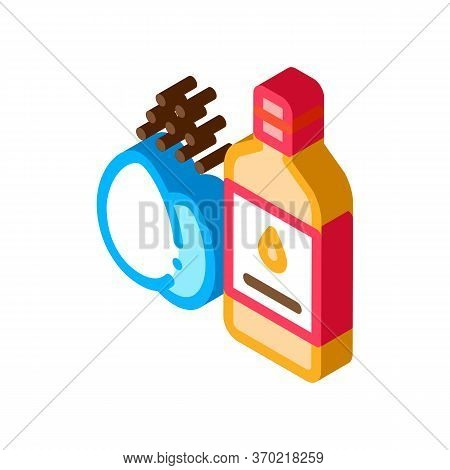 Butter Eggs And Peppers Cooking Homemade Mayonnaise Icon Vector. Isometric Butter Eggs And Peppers C