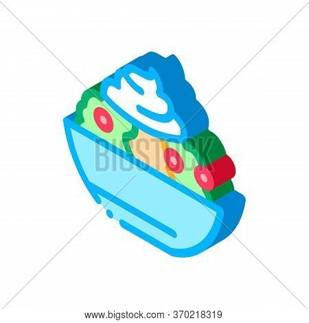 Mayonnaise Salad Icon Vector. Isometric Mayonnaise Salad Sign. Color Isolated Symbol Illustration