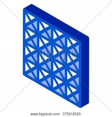 Three D Floor Tiles Icon Vector. Isometric Three D Floor Tiles Sign. Color Isolated Symbol Illustrat