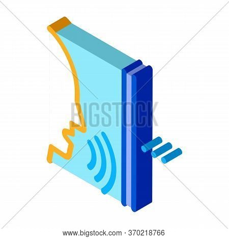 Sound Coming From Person Icon Vector. Isometric Sound Coming From Person Sign. Color Isolated Symbol