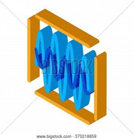 Sound Diagnostics Icon Vector. Isometric Sound Diagnostics Sign. Color Isolated Symbol Illustration