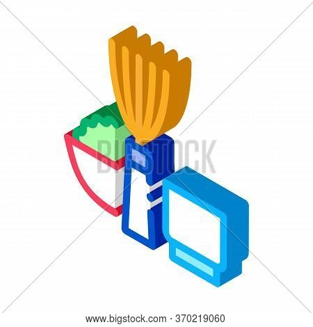 Kitchen Appliances And Devices Icon Vector. Isometric Kitchen Appliances And Devices Sign. Color Iso