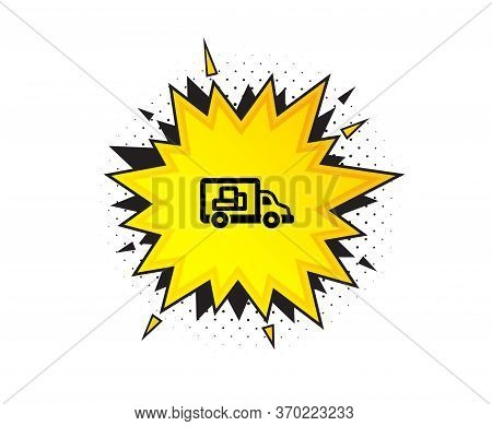 Truck Transport Icon. Quote Speech Bubble. Transportation Vehicle Sign. Delivery Symbol. Quotation M