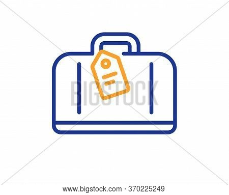 Airport Hand Baggage Reclaim Line Icon. Airplane Luggage Sign. Flight Checked Bag Symbol. Colorful T