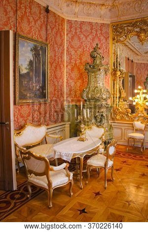 Lodz, Poland - 07 May 2015: Interior In Herbst Palace Museum. The Mansion Was Built In 1876.