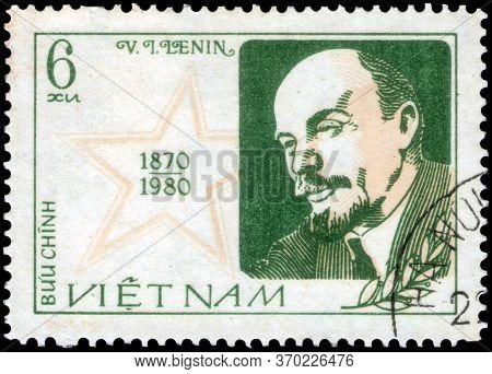 Saint Petersburg, Russia - May 31, 2020: Postage Stamp Issued In The Vietnam With The Image Of The V