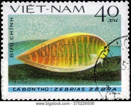Saint Petersburg, Russia - May 31, 2020: Postage Stamp Issued In The Vietnam With The Image Of The Z
