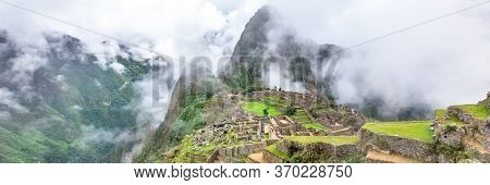 Machu Picchu, A Peruvian Historical Sanctuary And A Unesco World Heritage Site. One Of The New Seven
