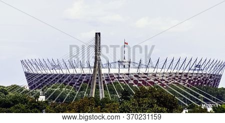 Warsaw, Masovia, Poland - August 14: Pge Narodowy Or National Stadium On August 14, 2019 In Warsaw,