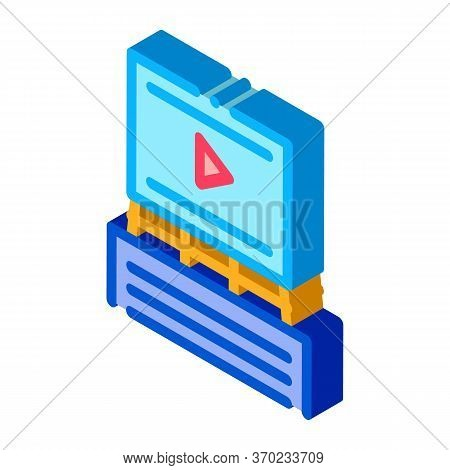Advertisement Announcement Icon Vector. Isometric Advertisement Announcement Sign. Color Isolated Sy