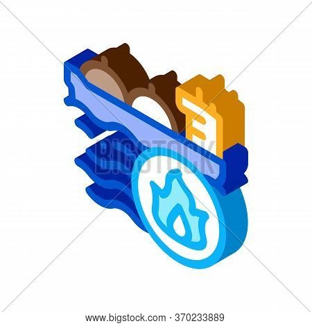 Gas Outlets At Sea Icon Vector. Isometric Gas Outlets At Sea Sign. Color Isolated Symbol Illustratio