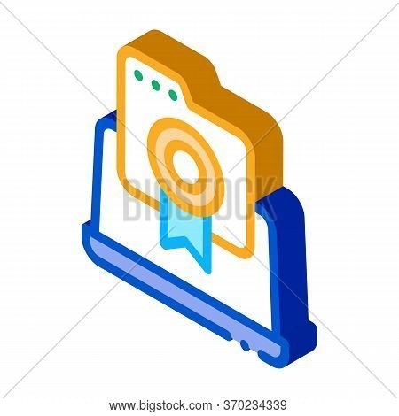 Laptop Screen Screenshot Icon Vector. Isometric Laptop Screen Screenshot Sign. Color Isolated Symbol