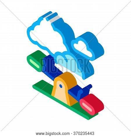 Ground Slide Swing Icon Vector. Isometric Ground Slide Swing Sign. Color Isolated Symbol Illustratio