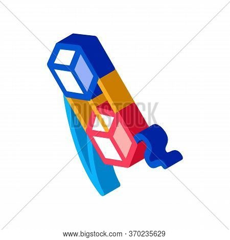 Aerial Cubes On String Icon Vector. Isometric Aerial Cubes On String Sign. Color Isolated Symbol Ill