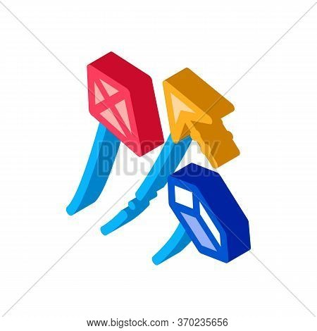 Aerial Items To Launch Icon Vector. Isometric Aerial Items To Launch Sign. Color Isolated Symbol Ill