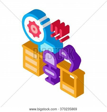 Harmful Bacteria In Working Room Icon Vector. Isometric Harmful Bacteria In Working Room Sign. Color