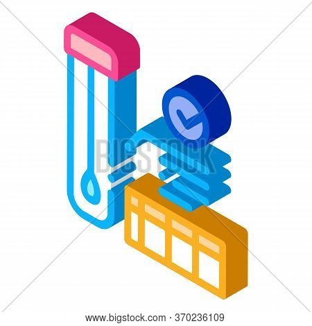 Affirmative Test Tube Material Results Icon Vector. Isometric Affirmative Test Tube Material Results