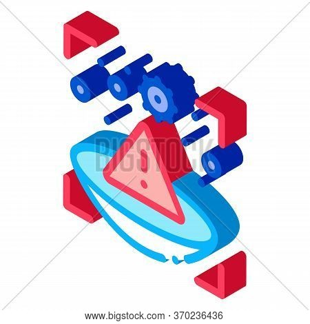 Medically Unsafe Lens Icon Vector. Isometric Medically Unsafe Lens Sign. Color Isolated Symbol Illus