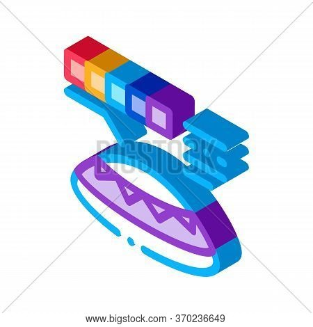 Lens Color Selection Icon Vector. Isometric Lens Color Selection Sign. Color Isolated Symbol Illustr