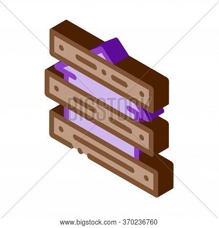 Territory Of House Impassable For People Icon Vector. Isometric Territory Of House Impassable For Pe