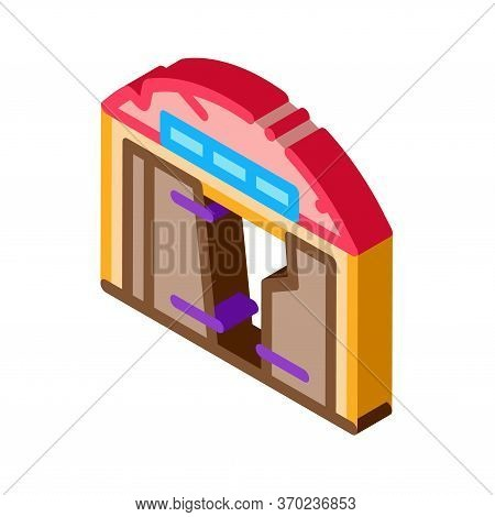 Destroyed Garage Icon Vector. Isometric Destroyed Garage Sign. Color Isolated Symbol Illustration