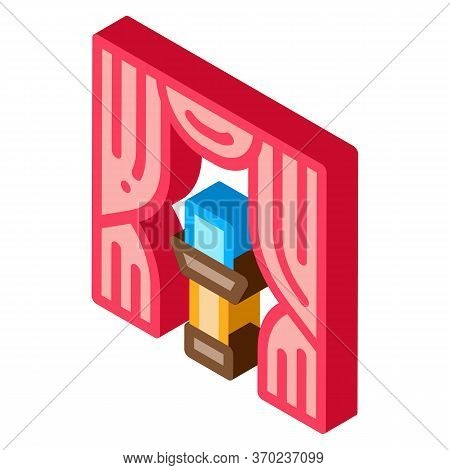 Auction Appearance Icon Vector. Isometric Auction Appearance Sign. Color Isolated Symbol Illustratio