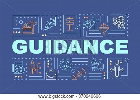 Guidance Word Concepts Banner. Support Programs, Personal Growth And Skill Development Infographics