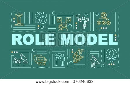 Role Model Word Concepts Banner. Inspiring For Personal, Professional Growth. Mentoring Infographics