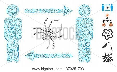 Hatch Mosaic Based On Persons Exchange Parasite Icon. Mosaic Vector Persons Exchange Parasite Is Com