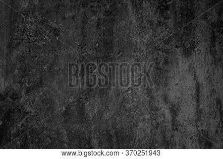 Art Black Concrete Stone Texture For Background In Black. Abstra