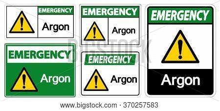 Emergency Argon Symbol Sign Isolate On White Background,vector Illustration Eps.10