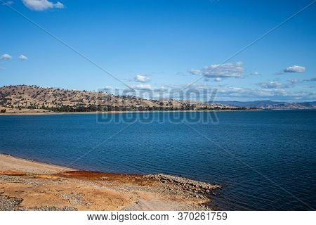 One Of Largest Dams In World, Hume Dam Across Murray River, New South Wales, Australia