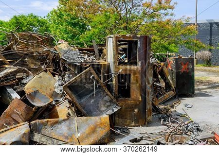 Interior Fire Damage After A Night Midway Saint Paul In Minneapolis Protest And Riots Fueled By The