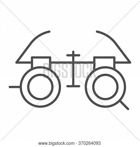 Ophthalmologist Glasses Thin Line Icon, Medicine Concept, Eye Test Glasses Sign On White Background,