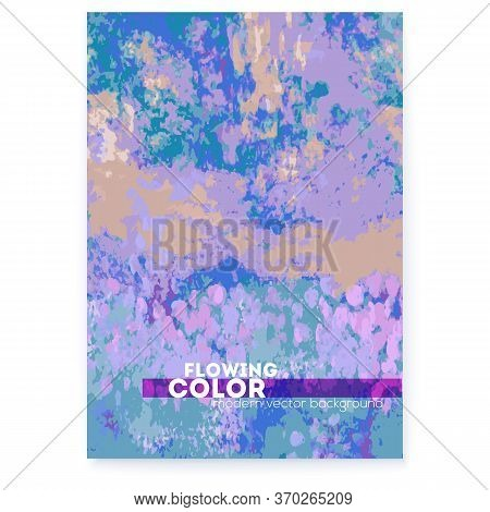 Banner With Hand Painted Canvas. Abstract Background In Impressionism Style. Vector Illustration. Te