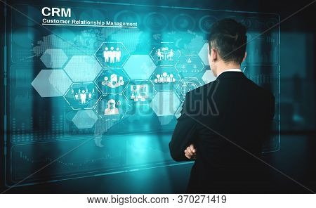 Crm Customer Relationship Management For Business Sales Marketing System Concept