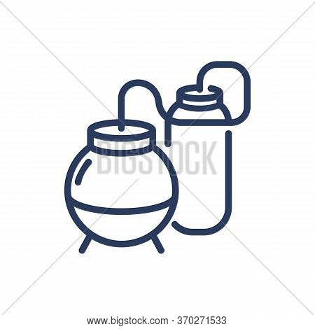 Petroleum Refining Tanks Thin Line Icon. Storage, Energy, Crude Isolated Outline Sign. Oil And Gas I