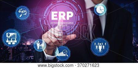 Enterprise Resource Management Erp Software System For Business Resources Plan