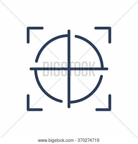 Detection Scanner Focus Thin Line Icon. Crosshair, Focus, Frame Isolated Outline Sign. Safety, Acces