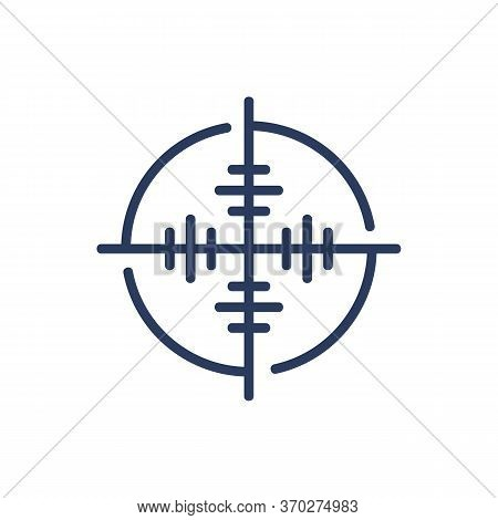 Shutter Aim Thin Line Icon. Focus, Crosshair, Target Isolated Outline Sign. Accuracy, Opportunity, S