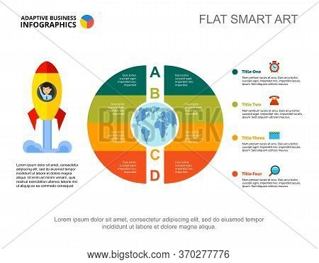 Core Diagram With Four Zones. Circler Chart, Editable Template. Creative Concept For Infographics, P