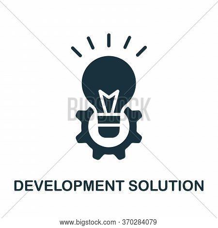 Development Solution Icon. Simple Element From Business Organization Collection. Creative Developmen